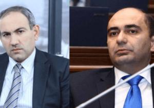 Депутаты Никол Пашинян и Эдмон Марукян так и не пришли к согласию