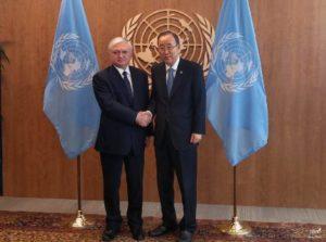 Эдвард Налбандян встретился с Генеральным секретарем ООН Пан Ги Муном