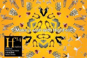 """Театральные труппы из 20 стран воплотят свои мечты на фестивале """"High fest"""" в Ереване"""