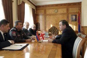 Шеф полиции Армении обсудил с послом Грузии вопросы сотрудничества