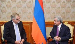 Президент Саргсян принял Герберта Зальбера