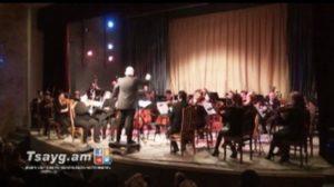 Гюмрийский государственный симфонический оркестр выступал в Тбилиси (Видео)