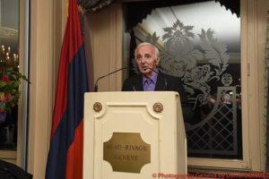 Шарль Азнавур организовал в Женеве прием в честь 25-летия независимости Армении