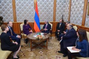 Президент Армении принял главу Европейской платформы регуляторов теле- и радиовещания