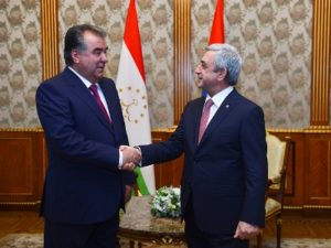 Серж Саргсян встретился с президентом Таджикистана