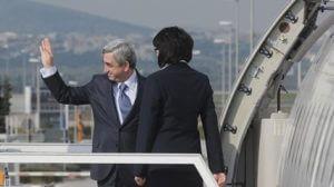 Президент Армении прибыл в Нидерланды на саммит Европейской народной партии