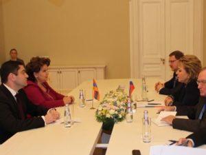 Укрепление армяно-российских межпарламентских связей обсудили Эрмине Нагдалян и Валентина Матвиенко
