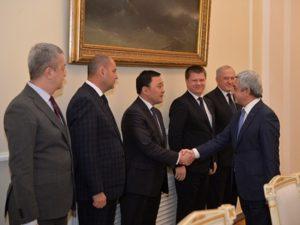 Президент Саргсян принял руководителей делегаций таможенных служб государств-членов ЕАЭС