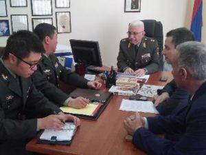 Военный атташе посольства Китая в Армении посетил Национальный исследовательский университет обороны