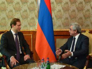 Президент Армении и министр промышленности и торговли России обсудили вопросы по укреплению торгово-экономических связе