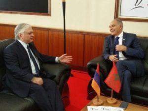Главы МИД Армении и Марокко обсудили возможности расширения двусторонних отношений