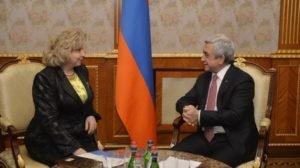 Президент Саргсян принял комиссара по правам человека России