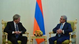 Президент Саргсян поздравил премьер-министра Италии