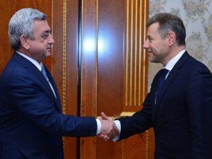 Серж Саргсян принял нового сопредседателя Минской группы ОБСЕ от Франции