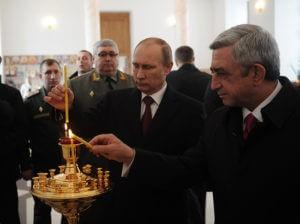 Путин поздравил Саргсяна с новогодними праздниками