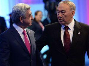 Саргсян поздравил Назарбаева с 25-летием независимости Казахстана