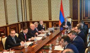 Президент Армении провел заседание Совета нацбезопасности