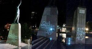 Автору граффити на памятнике Гейдару Алиеву грозит 10 лет лишения свободы