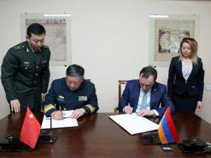 Подписана программа сотрудничества между министерствами обороны Армении и Китая на 2017 год