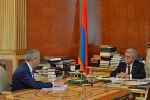 Президенту Армении представили работы по созданию единой транспортной сети