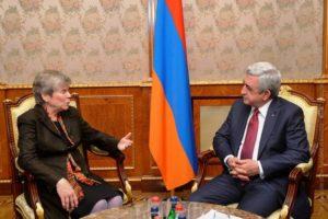 Президент Саргсян: Отношения Армении с НАТО развиваются