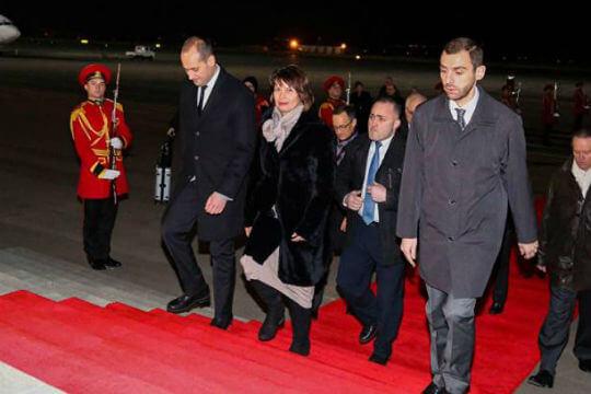 Президент Швейцарии прибыла вТбилиси софициальным визитом