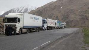Пока еще 395 армянских грузовиков остались на российской стороне Ларса