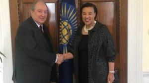 Армен Саргсян встретился с баронессой Патрисией Скотланд