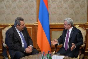 Сотрудничество Еревана и Афин в военной сфере стало одной из основ двусторонних межгосотношений – Саргсян