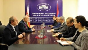 Встреча министра иностранных дел Арцаха и министра иностранных дел Южной Осетии