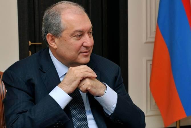Президент Саркисян: Разрешить ситуацию вАрмении можно только конституционным путем