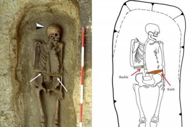 ВИталии обнаружили скелет срукой-ножом