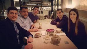 Нарек Ахназарян, Генрих Мхитарян и Рубен Варданян встретились в Лондоне