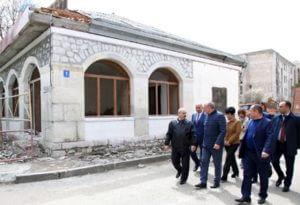 Президент Арцаха посетил учебные заведения и строящиеся объекты Шуши