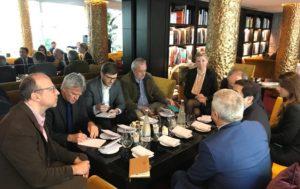 Спикер парламента Арцаха в Париже встретился с группой европейских журналистов