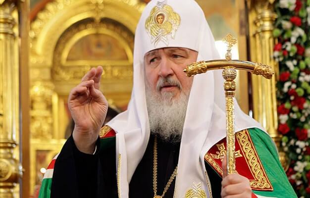 Патриарх Кирилл освятил ветви вербы в монастыре Христа Спасителя