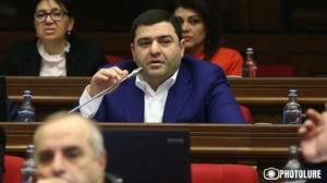 Еще один депутат покинул ряды фракции Республиканской партии Армении