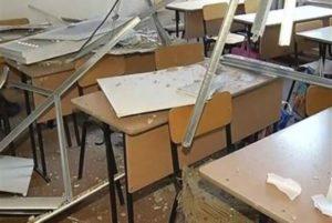 В Казахстане девять учеников пострадали при обрушении потолка в школе