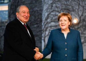 Переговоры президента Армении и канцлера Германии в Берлине