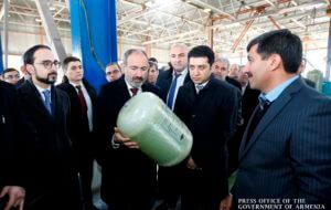 В Армении открылся завод по производству композитных газовых баллонов