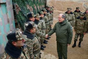 Президент посетил боевые опорные пункты ВС Армении, в том числе, на нахичеванском направлении