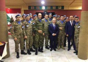 Посол Армении в Ливане поздравил миротворцев с Новым годом и Рождеством