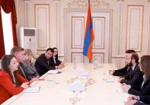 Спикер парламента Армении принял представителей NDI и IRI