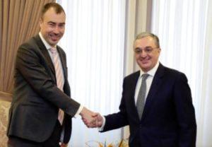 Глава МИД Армении принял спецпредставителя ЕС по вопросам Южного Кавказа и кризиса в Грузии