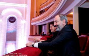 Никол Пашинян и Анна Акопян присутствовали на концерте Национального филармонического оркестра Армении