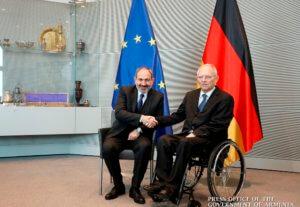 Премьер-министр Армении и председатель Бундестага Германии обсудили вопросы расширения межпарламентских связей