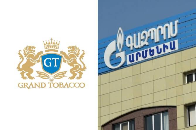 Гранд Тобако вытеснила Газпром-Армения с первой строки списка налогоплательщиков