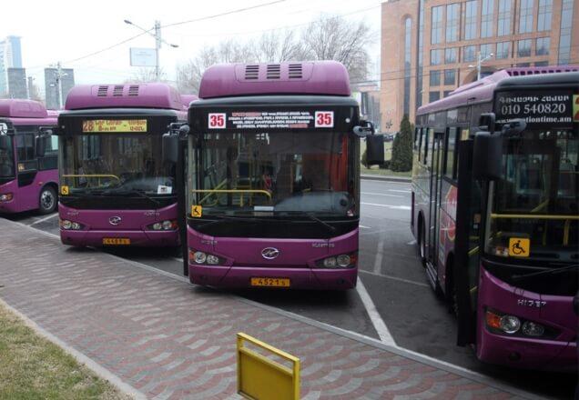 В Ереване 70 новых автобусов выйдут в рейс