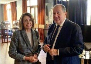 Президент Армении пригласил Нэнси Пелоси в Армению