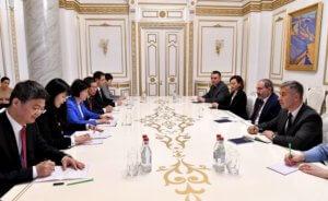 Никол Пашинян принял вице-председателя Постоянного комитета Всекитайского собрания народных представителей КНР